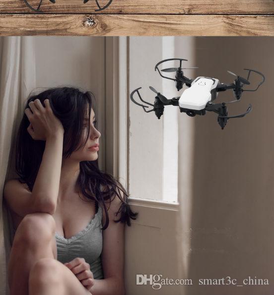 2021 LF606 WIFI FPV RC DRONE Quadcopter con cámara de 0.3MP ABS de plástico 11 * 11 * 3.5 cm 360 grados giratorios