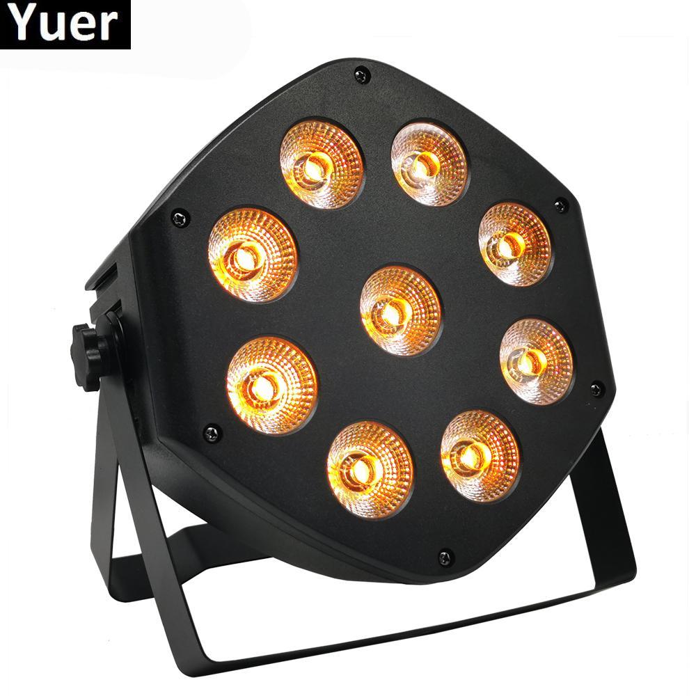 Remoto sem fio LED Controle Par 9x10W RGBW 4IN1 LED lavagem luz DJ Stage Partido Uplighting nenhum ruído Controle Remoto Night Lights
