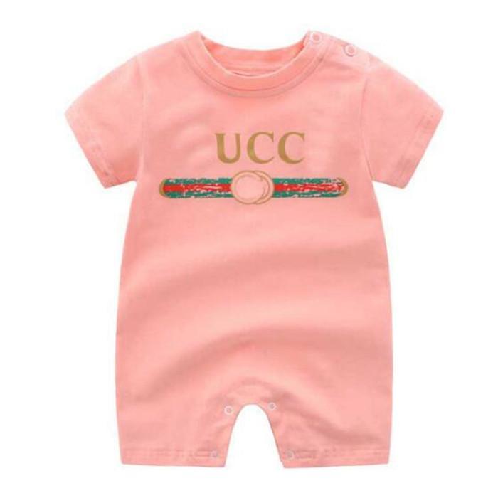 جديد الصيف الطفل السروال القصير 3 ألوان مصمم الرضع الفتيات الفتيان قصيرة الأكمام رومبير جودة عالية القطن لطيف الطفل بذلة