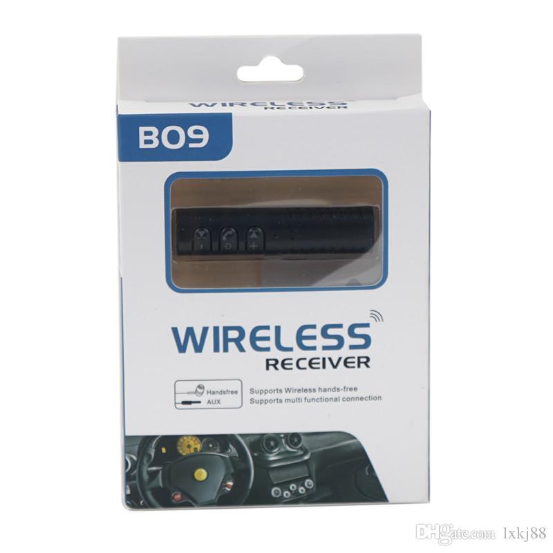 Newest model Wireless Bluetooth Audio Receiver Music Auto Car Headphone 3.5mm