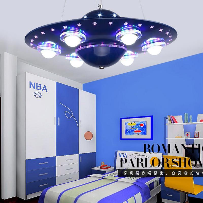 Ufo Kinderzimmer Pendelleuchten mit Fernbedienung Luster Enfant Hängelampe für Kinder Babyzimmer Raum Schlafzimmer Fixture Licht