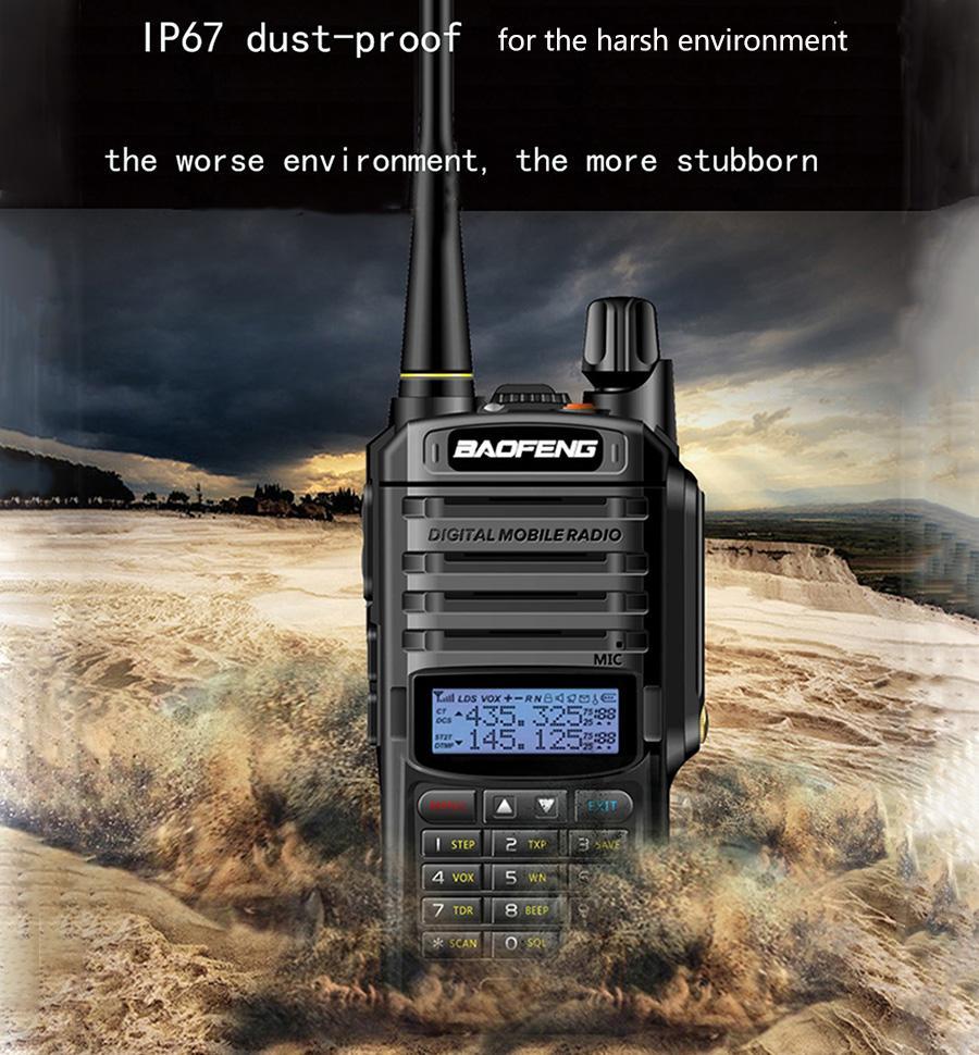 High Power Upgrade Baofeng UV-9R plus Waterproof walkie talkie 10w for two way radio long range 10km 4500mah uv 9r plus