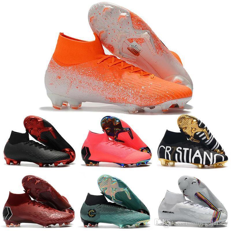 HOT SALE زئبقي ال superfly VI 360 النخبة FG KJ 6 12 لكرة القدم المرابط الرجال النساء نيمار CR7 العليا لكرة القدم أحذية كرة القدم أحذية 35-45