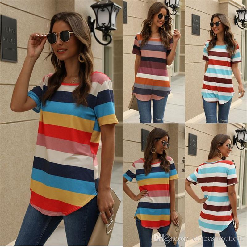 نسائية عادية كتلة اللون قصير كم القميص تونك القمم بلوزة 3colors الشحن