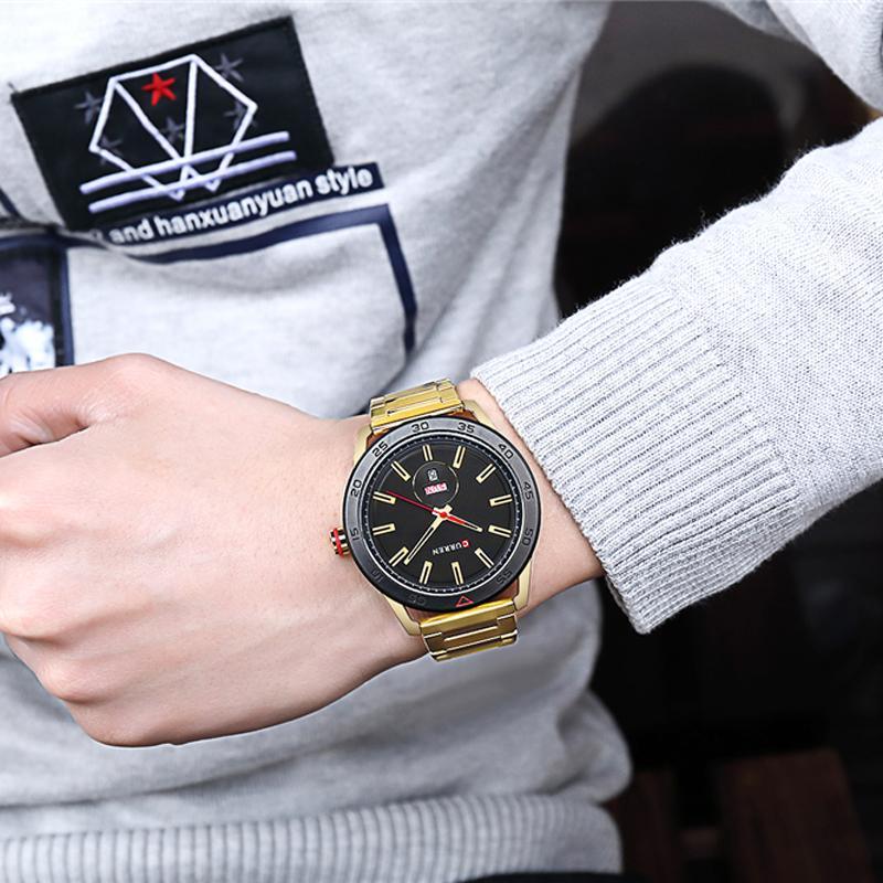 CWP 2021 Curren Uhren für Männer Casual Style Uhr Uhr Datum Quarz Armbanduhr mit Edelstahl Classic Design Rundwahl 44 mm
