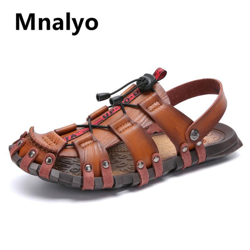 New Hot Sale MenS Sandals Leather Men