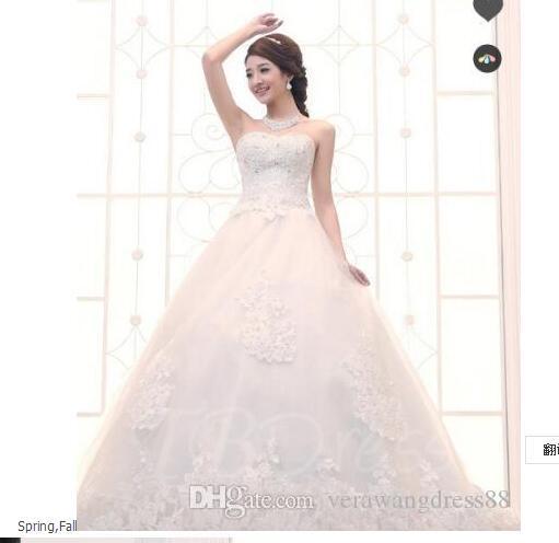 Robe longue perlant train chapelle robe de bal robe de mariée