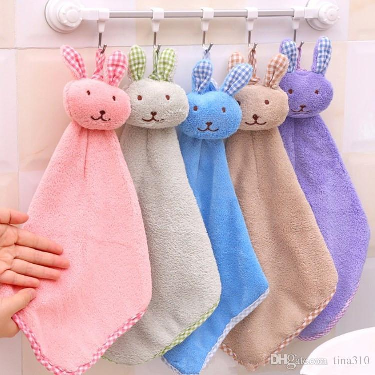 New towel Coral velvet rabbit modeling towel kitchen wipes cartoon clean Towel Wipe the cloth IC850