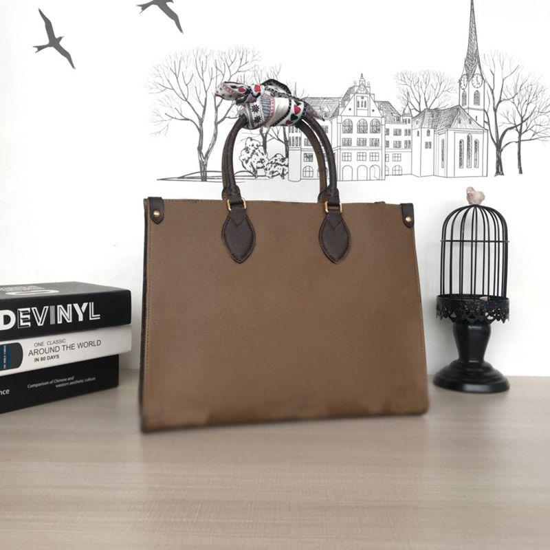 Taschen Qualität 34 cm Handtasche Frauen Schulter 42cm Duplex Handtaschen Designer Taschen Mode Große Highbeutel Onthego Einkaufen JJXIP