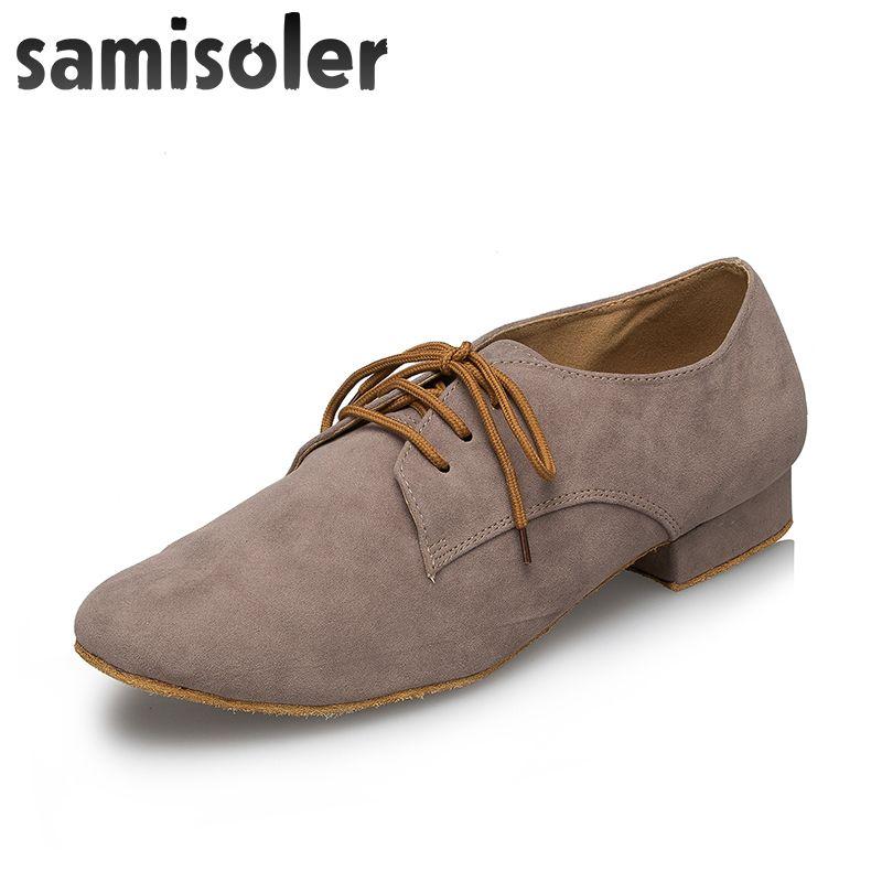 Negro de cuero zapatos de baile de salón de baile zapatos planos modernos Samisoler Gy hombres de Tango Square boda del partido