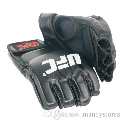 Extension wrist leather mma fighting Kick boxing gloves training taekwondo gloves (black/grey)