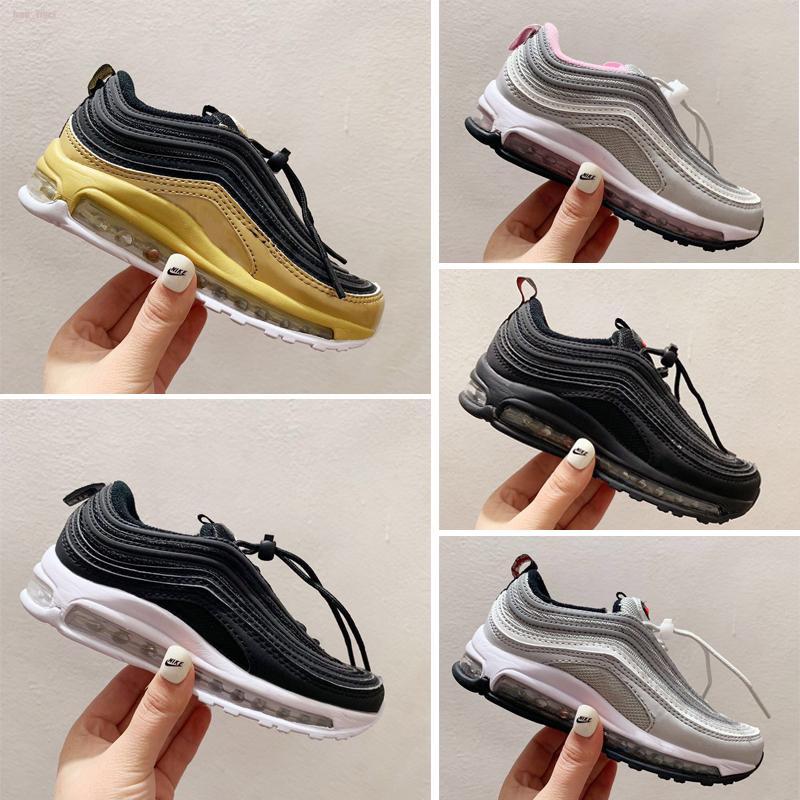 Nike air max 97 Caliente de la venta niños corriendo zapatos del amortiguador de formación de plástico zapatos de los muchachos jóvenes chicas niños al por mayor zapatillas