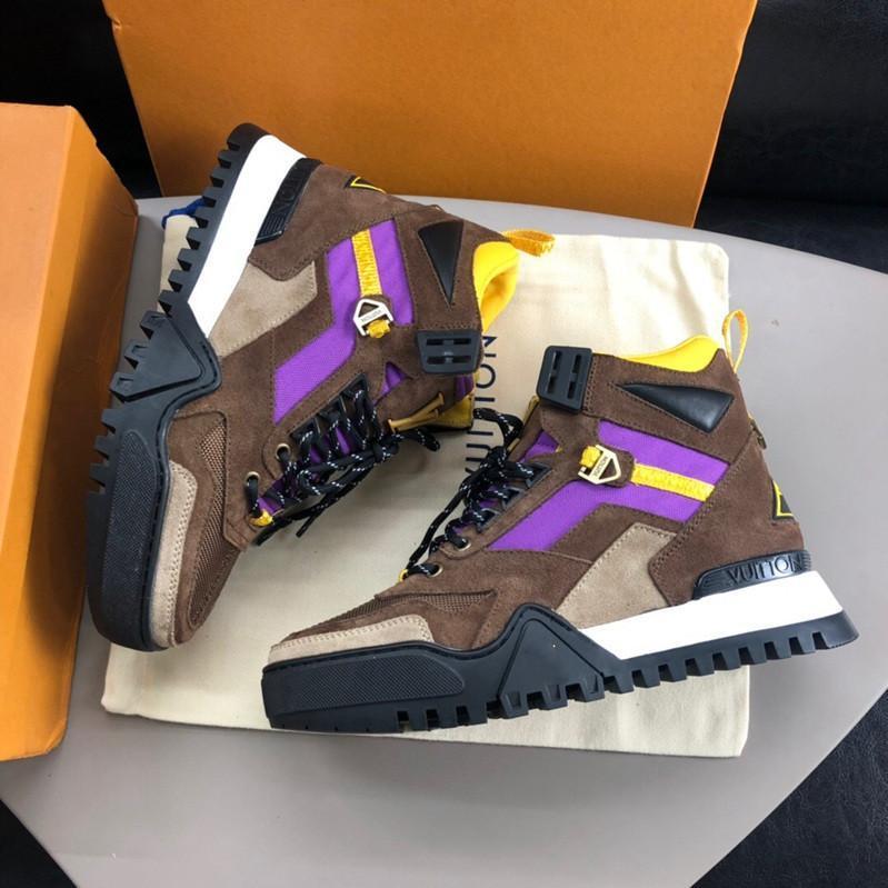 Nouveau chaussures hommes design de luxe marque mode hommes RANDONNÉE SNEAKER formateurs des formateurs designer chaussures hommes de luxe haut de haut L30