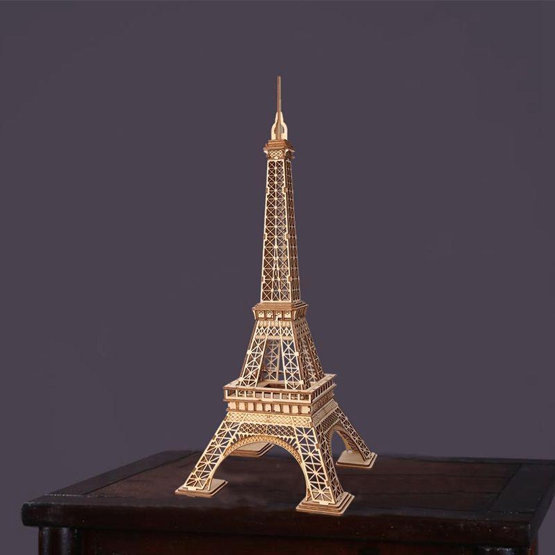 لغز خشبي برج ايفل الجمعية نموذج وود كرافت أطقم مكتب ديكور للعب الأطفال TG501 قطرة الشحن بالجملة