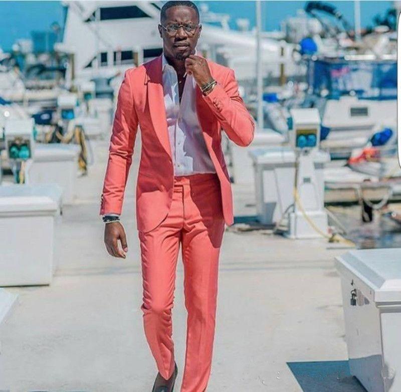 Yeni Klasik Tasarım Damat smokin Groomsmen Best Man Suit Erkek Düğün Suit Damat İş Takımları (Ceket + Pantolon)