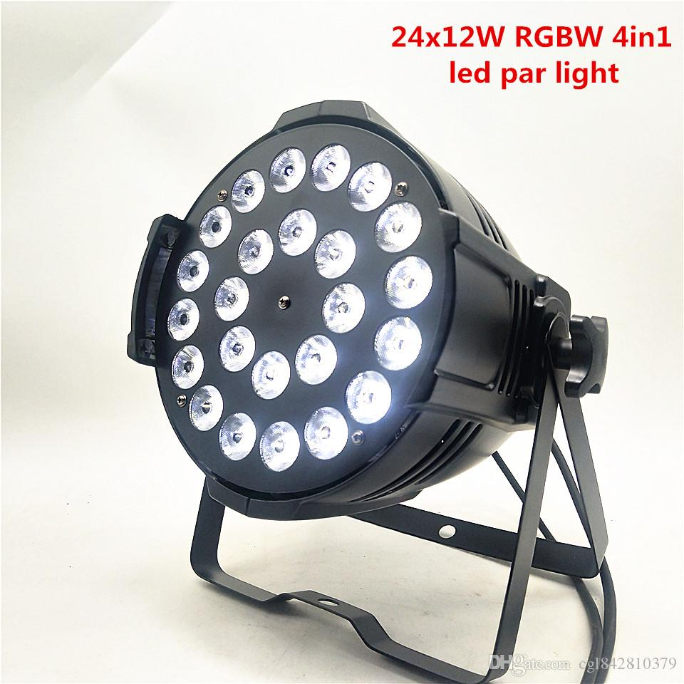 8pcs 24x12W LED Par Light RGBW 4 in 1 DMX512 Disco Light Dedicated Performing Arts Equipment Release Conference Party Bar LED Stage Light
