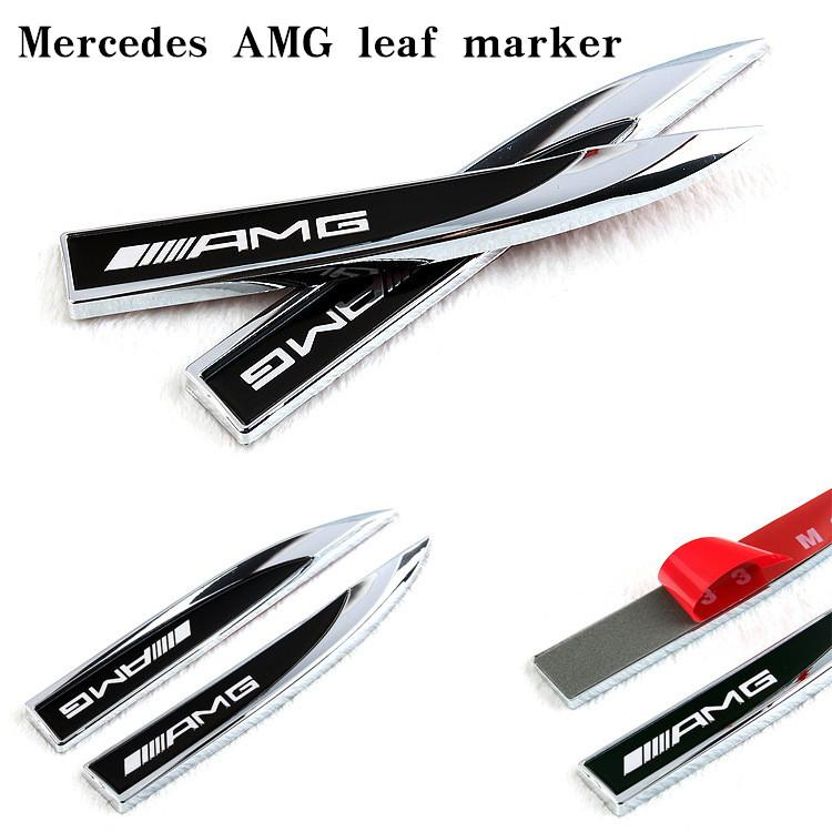 Suitable for Mercedes- B AMG sports modified fender blade body decoration labeling car accessories