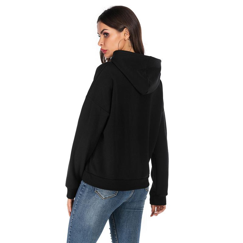 2019 BOVIKAY Women Hoodies Sweatshirts 2019 Autumn Winter Plus Size Long Sleeve Pocket Pullover Hoodie Female Casual Warm Sweatshirt From