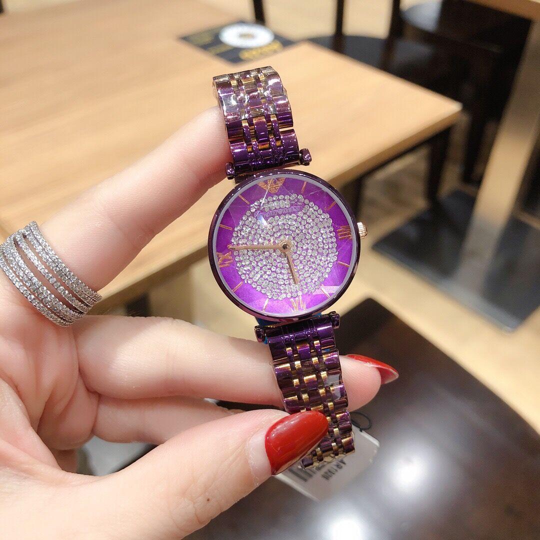 2020 Mulheres Relógios de aço inoxidável de cristal relógios de luxo malha Strap relógio de pulso relógio de quartzo presente Ladies Relógios presente Relógio NOVO