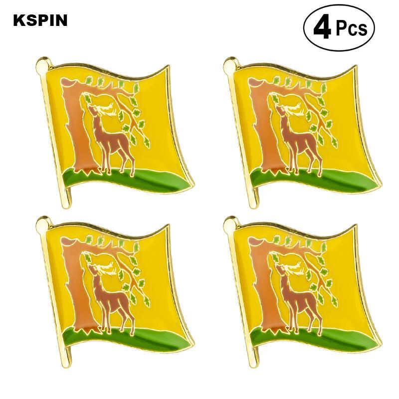 Беркшир PIN отворотом флага значок брошь значки 4шт