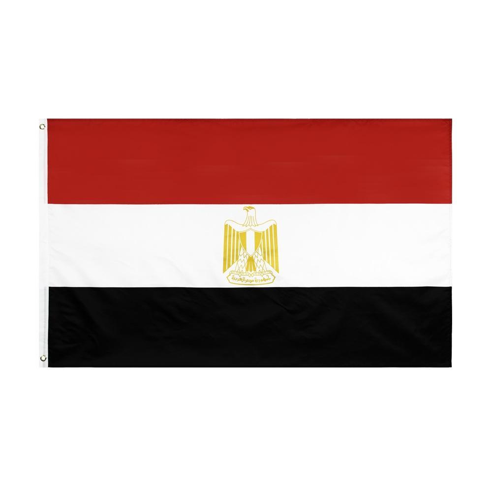 Shpping libero in azione diverse bandiere 3x5FT 90x150cm EG EGY Egitto nazionale del poliestere di bandiera della bandierina per la decorazione esterna dell'interno