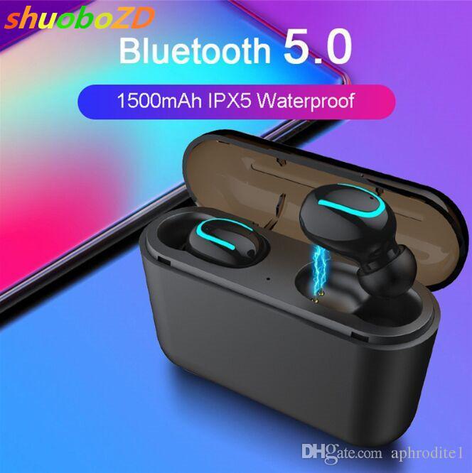 shuoboZD Bluetooth Wireless Earphones TWS 5.0 Bluetooth Headphones Earphone Handsfree Headphone Sports Earbuds Gaming Headset Phone