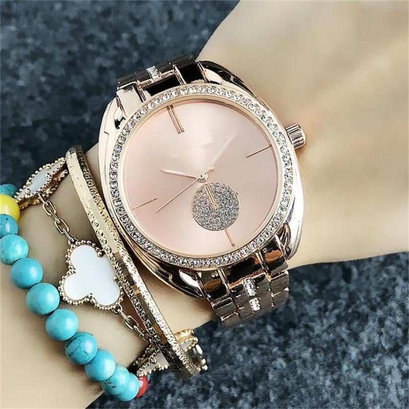 Luxury ladies crystal Quartz Watches ladies dress fashion rose gold Quartz watch female stainless steel Watches Wholesale Free Shipping