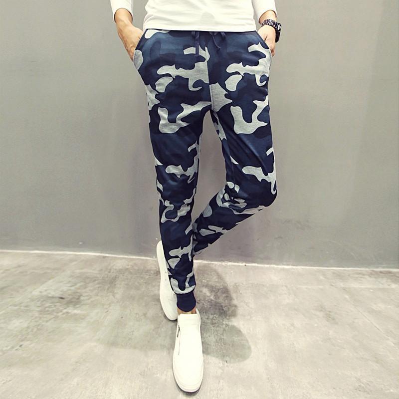 2019 hommes pantalons décontractés nouveau camouflage slim fit armée pantalons de camouflage crayon camo pantalon hip hop pantalons de survêtement militaire mens joggeurs