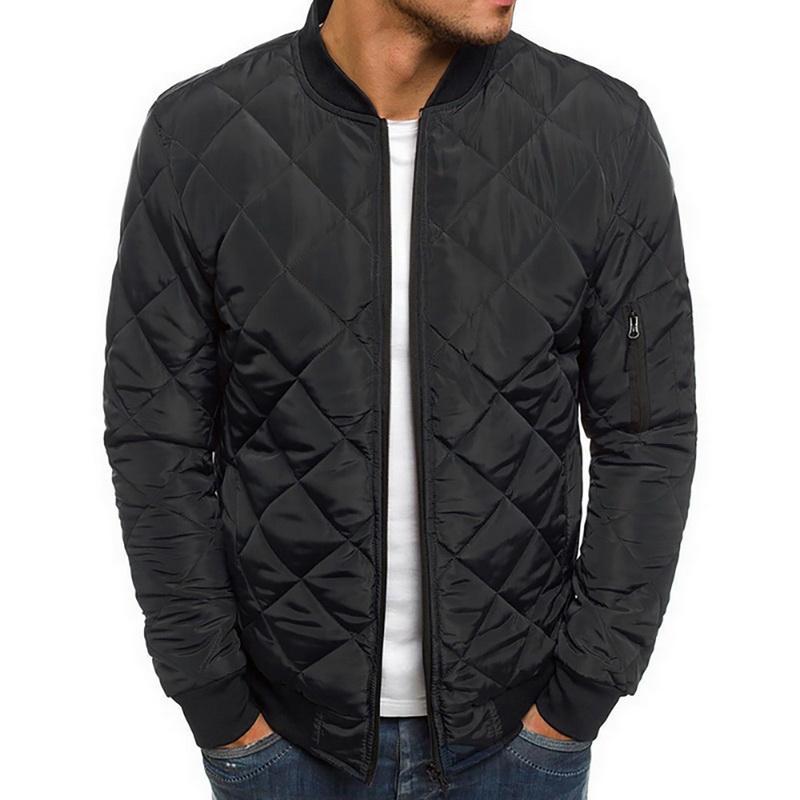 Veste de nouveaux hommes et manteaux légers coupe-vent Réchauffez Packable Jacket solide chaud Hommes Vestes légères Taille Plus 2XL