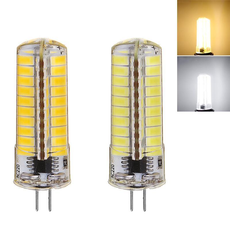 LED G4 5W 5730 SMD 80LED силиконовые дроссельные светодиодные лампы AC110V / 220V энергосберегающее подходит для офиса