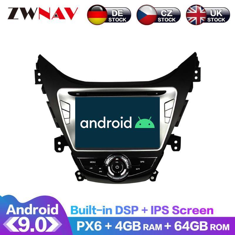 안드로이드 9 IPS는 PX6 DSP를 들어 아반떼 / 아반떼 / I35 2011년에서 2013년까지 자동차 DVD GPS 멀티미디어 플레이어 헤드 유닛 라디오 오디오 스테레오 화면