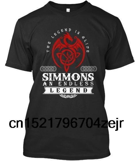 Männer T-Shirt Simmons - Eine endlose Legende lebt! T-Stück lustiges T-Shirt Neuheitst-shirt Frauen