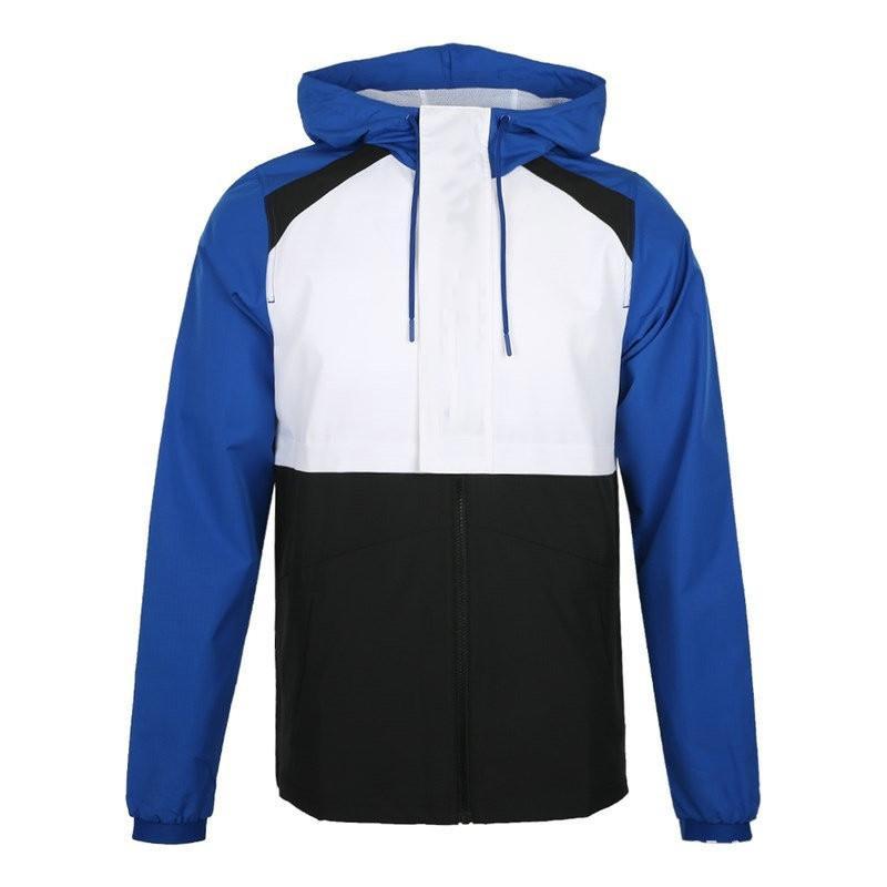 Primavera Autunno Uomini giacca designer giacca a vento degli uomini di modo manicotto lungo cappotto casuale sottile capispalla per uomo Patchwork Blu Bianco Jackets
