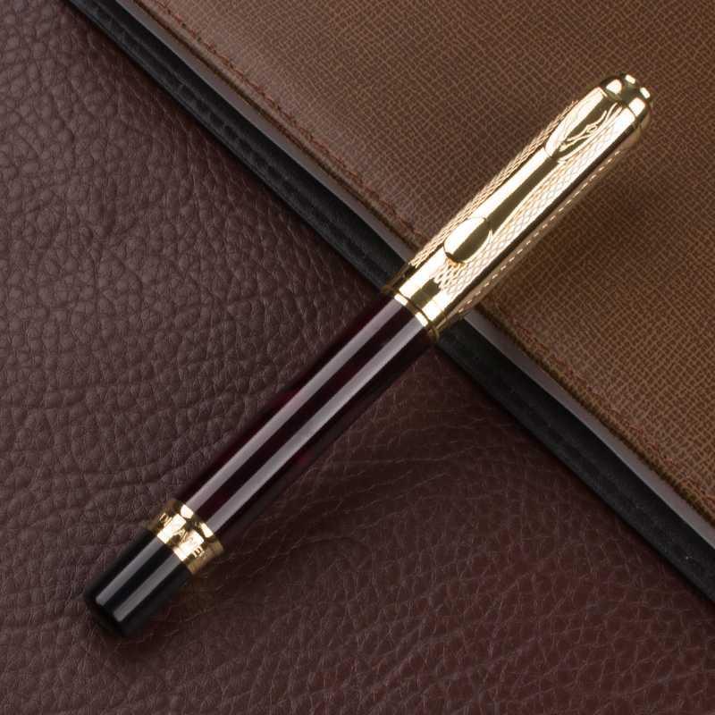 Bureau élégant de haute qualité Accessoires Papeterie scolaire Fountain Pen 0.5mm métal Stylos encre Fournitures scolaires Fournitures de bureau
