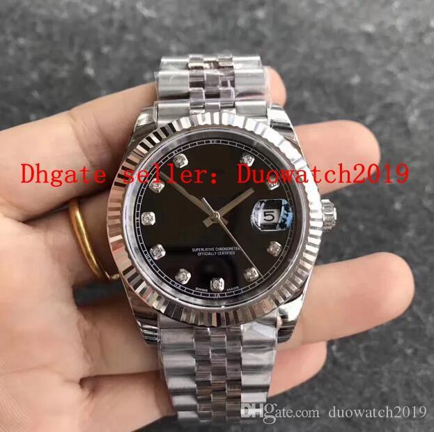 Mens 41MM beste Qualität EW 41MM Automatische Cal.3235 Datejust Jubilee Edition weiß Schwarz Dial Diamant Swiss Superlativ Chronometeruhr