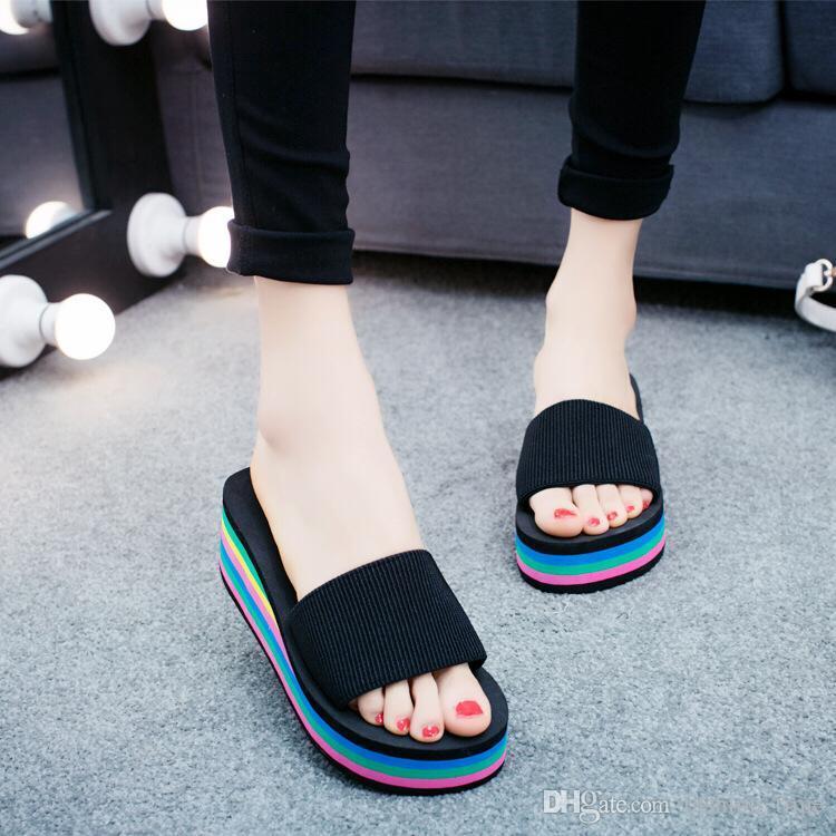 2019 лето Толстая подошвой противоскольжения плоским дном женщин обувь комфорт медсестер размер обуви мать обувь сандалии Губка из Casual пляж сандалии