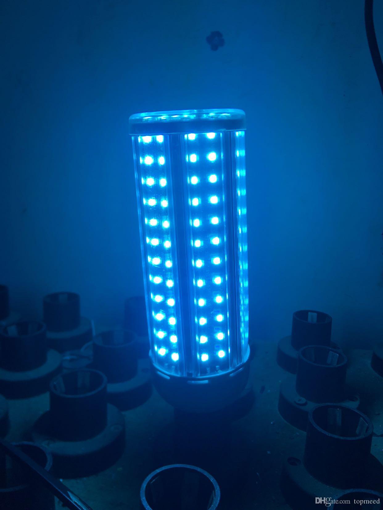홈 원격 타이머 DHL 60W UV 살균 램프 UVC 전구 E27 LED 옥수수 전구 가정용 오존 램프 소독 라이트 자외선