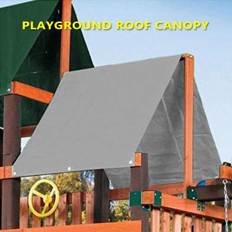 Reemplazo Carpa Almacén Zona de juegos tejado del pabellón cubierta impermeable al aire libre de la sombrilla Lona contra los rayos UV 132x226cm Swingset niños Shade