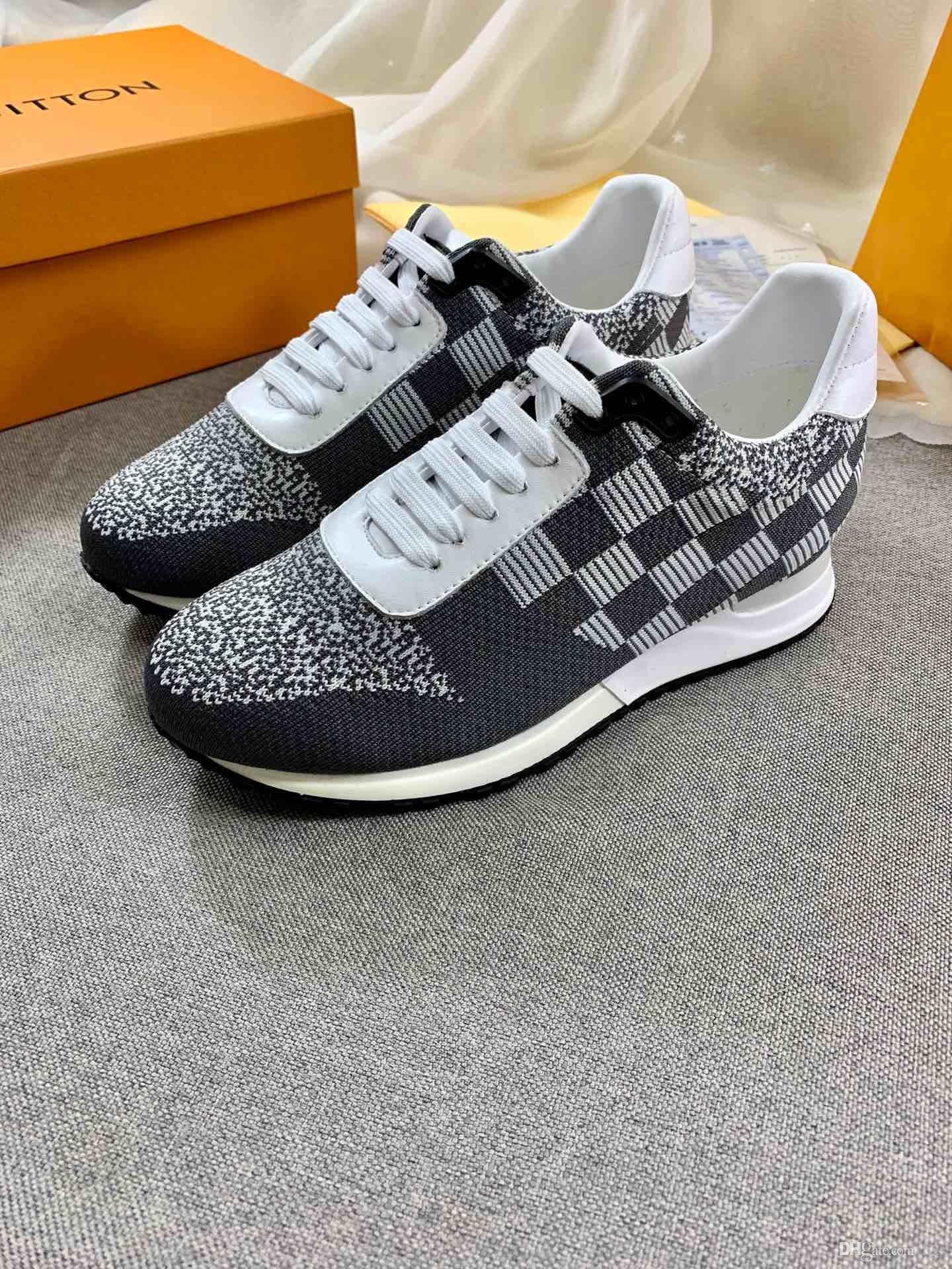 2020 scarpe da uomo di nefes yürüyüş ayakkabıları kadının eğitmenler lüks platformu spor ayakkabıları harfler di lusso Gri yüzey deri tasarım