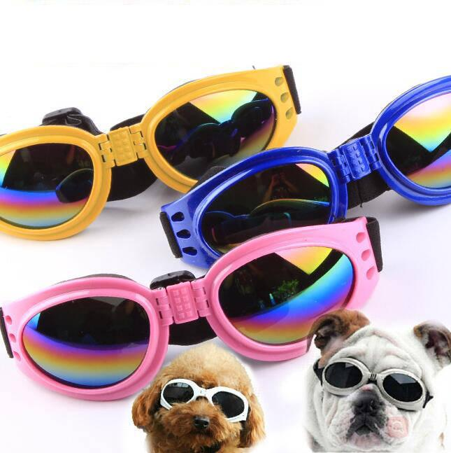 Dog Glasses Folding Candy color Sunglasses Dogs Waterproof Eye wear Medium Large Dog Protection Goggles UV Sunglasses Pet Supplies cls271
