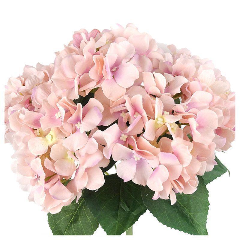 인공 꽃 실크 결혼식,방,가정,호텔,당 훈장 및 휴일 선물 분홍색을 위한 7 개의 큰 맨 위 수국 꽃다발