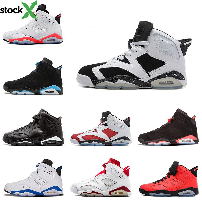 Wholesale 6s mens basketball shoes UNC Carmine Angry bull Black Cat Infrared Marron men trainers sneaker 6 sports shoe size 8-13 on sale