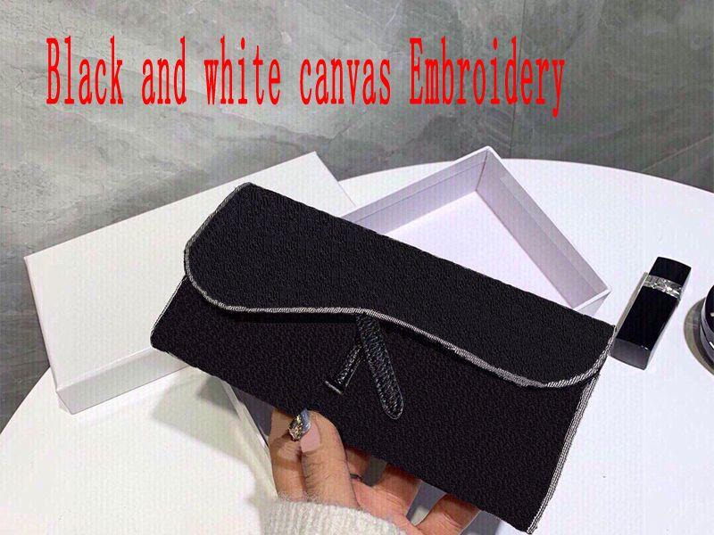 borsa del portafoglio della tela da ricamo borse di alta qualità Frizione Borse sacchetto del raccoglitore del sacchetto di modo con la scatola
