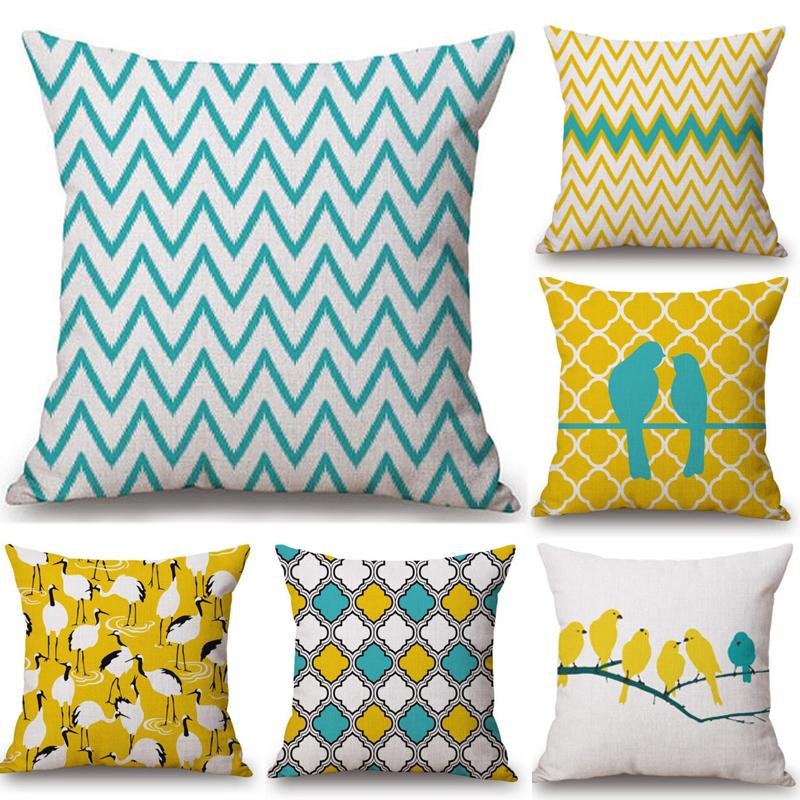 New All Smiles Teal Throw Pillow Covers Case Decorative Turquoise Cushion Pil Home Décor Home Garden