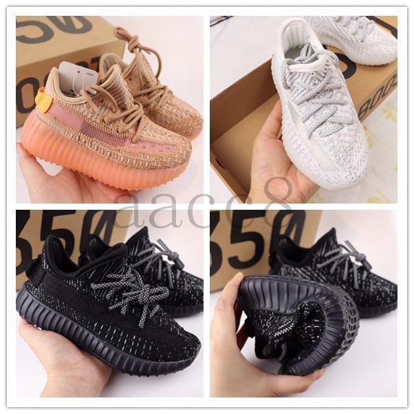 2019 baby kanye west shoes kids Infant designer youth clay Ture form static wave boys girl athletic Trainers Children toddler sneakers778b#