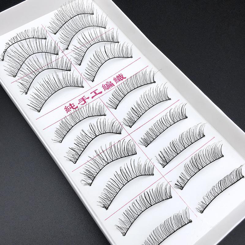 1 Box Big Capacity Eyelash Extensions Handmade Individual Lashes Natural Style artificial silk mink hair eyelashes beauty