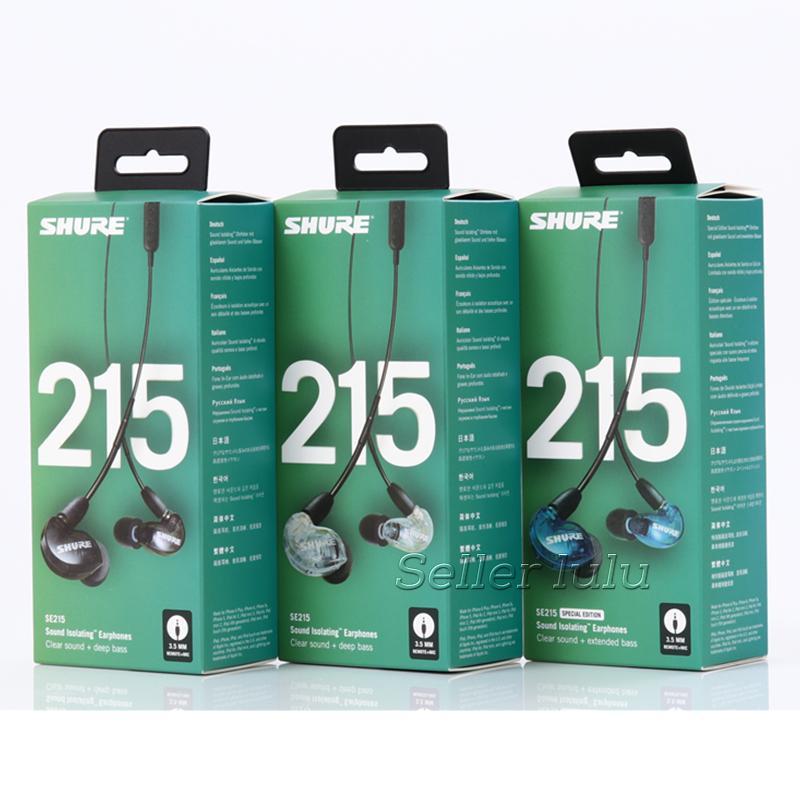 2021 novo SE215 fones de ouvido com fio edição especial na orelha fones de ouvido sólido isolamento de fones de ouvido limpar som plus estendido baixo tws fone de ouvido