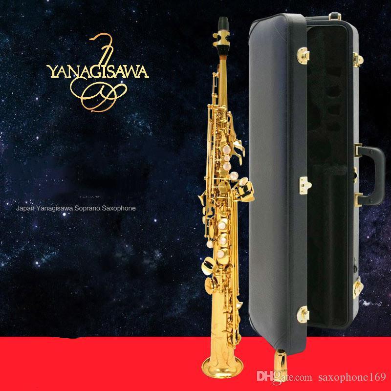 Marque NewJapan Yanagisawa de-901 Saxophone Soprano sib Instruments de musique Brass Sax Soprano Professional avec étui