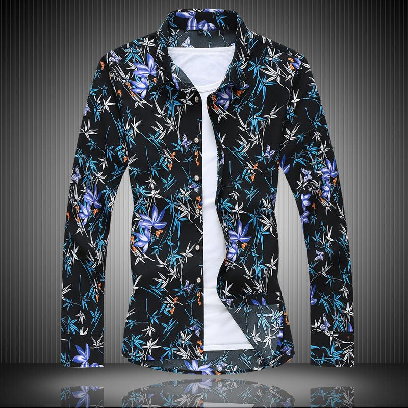 Cool2019 Clothing Autumn Male Printing Long Sleeve Enlarge Code Ephebe Leisure Time Shirt Loose Coat