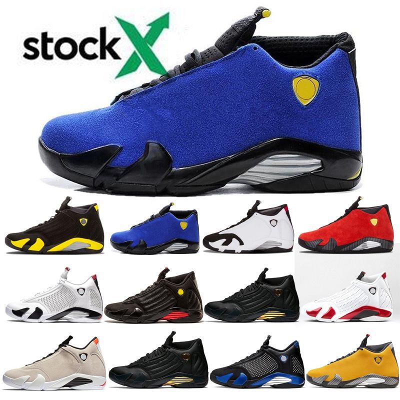 14 14s Reverse Last Shot Hombres Zapatillas de baloncesto Negro Azul Blanco Thunder Red Suede Last Shot Thunder Negro Amarillo DMP Sneakers